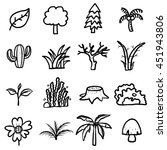 trees  plants icons set ... | Shutterstock .eps vector #451943806