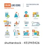 color thin line icons set.... | Shutterstock .eps vector #451945426