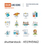 color thin line icons set.... | Shutterstock .eps vector #451945462