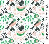 vector pattern with birds ... | Shutterstock .eps vector #451947166