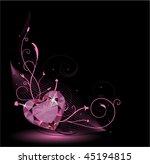 Valentine Card With Diamond...