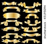 ribbons set | Shutterstock . vector #45195094