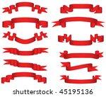 ribbons set | Shutterstock . vector #45195136