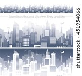 horizontal cityscape with... | Shutterstock .eps vector #451954066