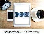 working office technology... | Shutterstock . vector #451957942