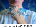 world map concept image. person ...   Shutterstock . vector #451959022