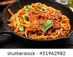 traditional spaghetti bolognese | Shutterstock . vector #451962982
