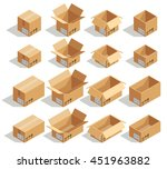 isometric cardboard boxes | Shutterstock . vector #451963882