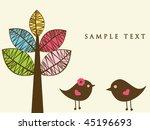 birds in love. vector ...