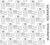 kitchen seamless pattern. bbq...   Shutterstock .eps vector #451969195