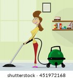 cartoon housewife with retro... | Shutterstock .eps vector #451972168