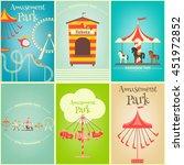 amusement park. summer holiday... | Shutterstock .eps vector #451972852
