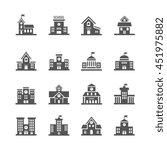 school building icons | Shutterstock . vector #451975882