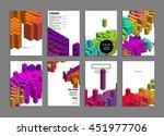 geometric cover background ...   Shutterstock .eps vector #451977706