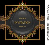 wedding invitation or card with ... | Shutterstock .eps vector #451979722