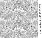 vector seamless monochrome... | Shutterstock .eps vector #451981672