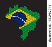 brazil map with the flag inside | Shutterstock .eps vector #451982746