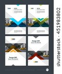 brochure template layout  cover ... | Shutterstock .eps vector #451983802