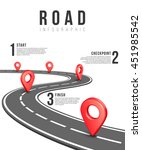road infographic template | Shutterstock . vector #451985542