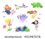 cute cartoon fairies set. | Shutterstock .eps vector #451987078
