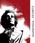 Постер, плакат: Grunge Mozart Art