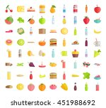set of food concepts. fruits ... | Shutterstock .eps vector #451988692
