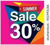 summer sale promo department... | Shutterstock .eps vector #451993186