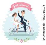 vector illustration of funny... | Shutterstock .eps vector #452010175