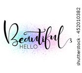 Hello Beautiful  Text On ...