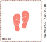 beach slippers icon   vector | Shutterstock .eps vector #452011318