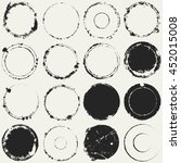distressed circle stamp black... | Shutterstock . vector #452015008