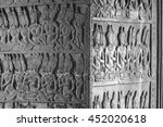 texture detail of the angkor... | Shutterstock . vector #452020618
