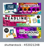 geometric vector background.... | Shutterstock .eps vector #452021248
