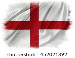 st george's cross flag on plain ... | Shutterstock . vector #452021392