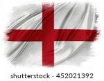 st george's cross flag on plain ...