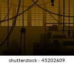warehouse or factory background ... | Shutterstock .eps vector #45202609