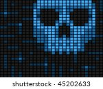 horizontal computer virus... | Shutterstock . vector #45202633