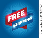 free shipping arrow tag sign... | Shutterstock .eps vector #452027068