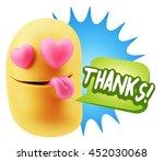3d rendering. emoji saying... | Shutterstock . vector #452030068