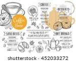 coffee restaurant brochure... | Shutterstock .eps vector #452033272