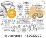 coffee restaurant brochure... | Shutterstock .eps vector #452033272