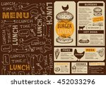 menu placemat food restaurant... | Shutterstock .eps vector #452033296