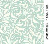 vector vintage seamless blue... | Shutterstock .eps vector #452034406
