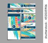 set of vector design templates. ... | Shutterstock .eps vector #452035906