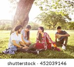 indian ethnicity friendship... | Shutterstock . vector #452039146
