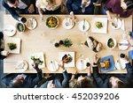 business meeting eating cheers... | Shutterstock . vector #452039206