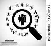 human resource   conceptual... | Shutterstock .eps vector #452040466