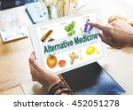 alternative medicine health... | Shutterstock . vector #452051278
