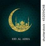 eid al adha greeting card. eid...   Shutterstock .eps vector #452054248