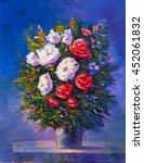 Oil Painting A Bouquet Of...